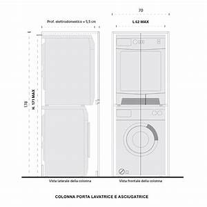 Colonna porta lavatrice e asciugatrice Blizzard ARREDACLICK