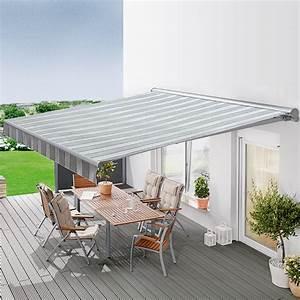 sunfun designhulsenmarkise grau weiss breite 4 m With markise balkon mit tapeten china design
