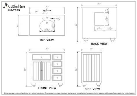 Bathroom Vanity Tower Dimensions by Standard Bathroom Vanity Sizes Options Bathroom Decor