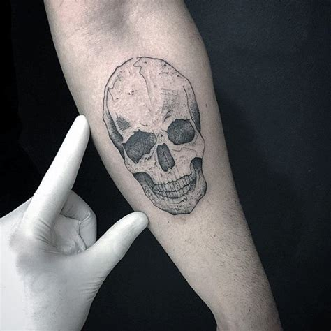 small skull tattoos  men mortality design ideas