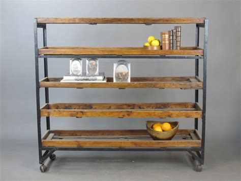 Antique Factory Industrial Reclaimed Factory 5 Rack
