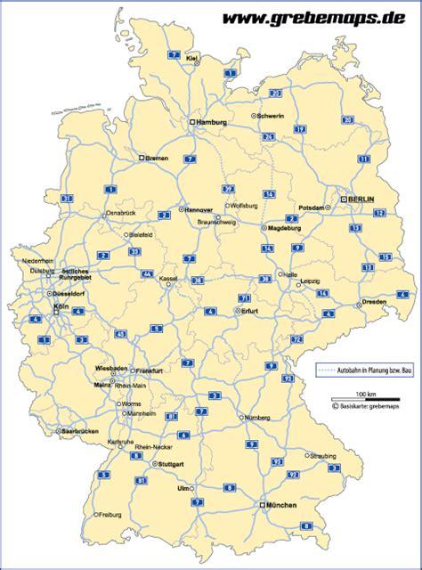 deutschland bundeslaender autobahnen vektorkarte