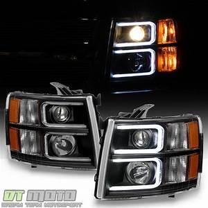 07 Silverado Led Lights Black 2007 2013 Chevy Silverado Optic Led Projector