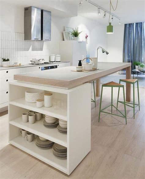 cuisine plan travail bois la cuisine blanche et bois en 102 photos inspirantes