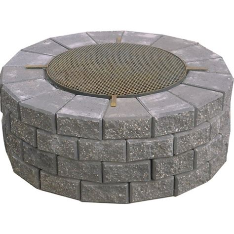 Outstanding Expocrete Fire Pit With Cooking Grate Lowes
