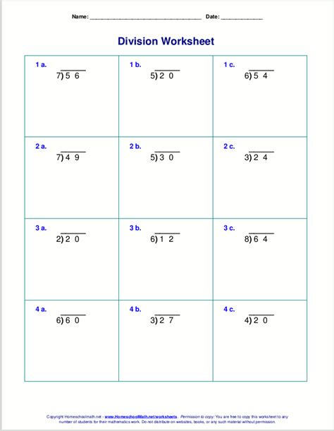 division worksheets grade  printable diy worksheet