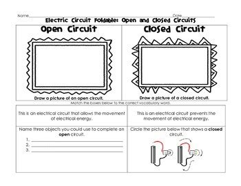 Electric Circuit Foldable Open Closed Series