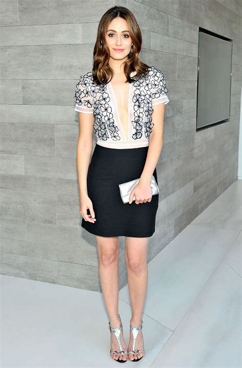Emmy Rossum In Blumarine at Vogue 120 Fetes LA - Fashionsizzle