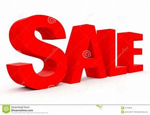 sale red 3d letters on white stock illustration image With 3d letters for sale