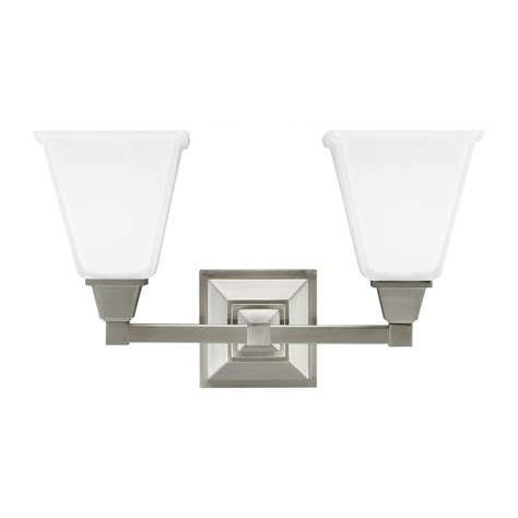 clearance bathroom light fixtures sea gull lighting denhelm brushed nickel two light