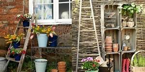 Echelle Bois Deco : d co de jardin pour embellir votre ext rieur ~ Teatrodelosmanantiales.com Idées de Décoration