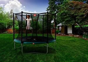 garten trampolin test beste qualitat von ihrem fachhandler With französischer balkon mit trampolin garten klein