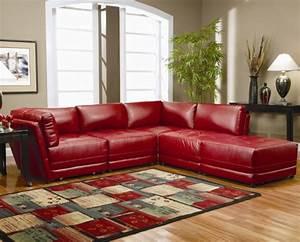 le salon d39angle cuir votre endroit chic preferee With tapis rouge avec canapé haut de gamme allemand
