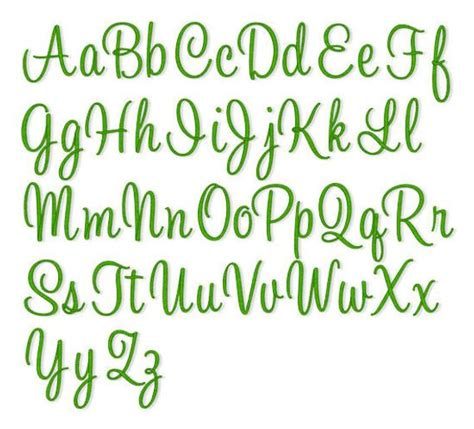 instant  embroidery font  sizes