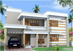 Flat Houses Designs Pictures by Flat Roof House Exterior In 1850 Sq House Design Plans