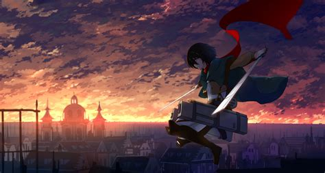 anime shingeki  kyojin mikasa ackerman wallpaper hd