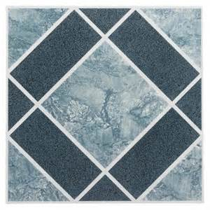 12x12 Vinyl Floor Tiles by Nexus Light Amp Dark Blue Diamond Pattern 12x12 Self