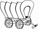 Wagon Coloring Wagons Stagecoach Wheel Wooden Template Pencil Covered Drawing Chuck Pioneer Sketch Templates Preschool sketch template