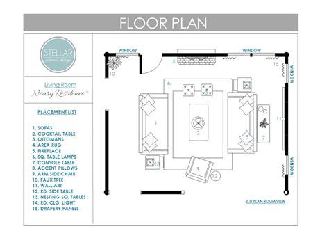 Floor Plans For Living Room Edesign Client  Stellar