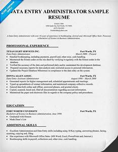 data entry administrator resume sample resumecompanion With data entry resume sample