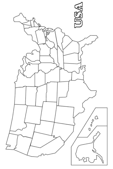 map  america coloring page  printable coloring pages