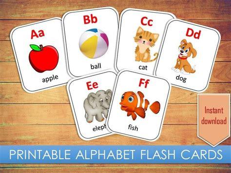 alphabet flash cards preschool learning toddler kids
