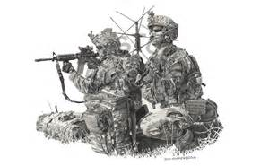 Military Police Pencil Drawing