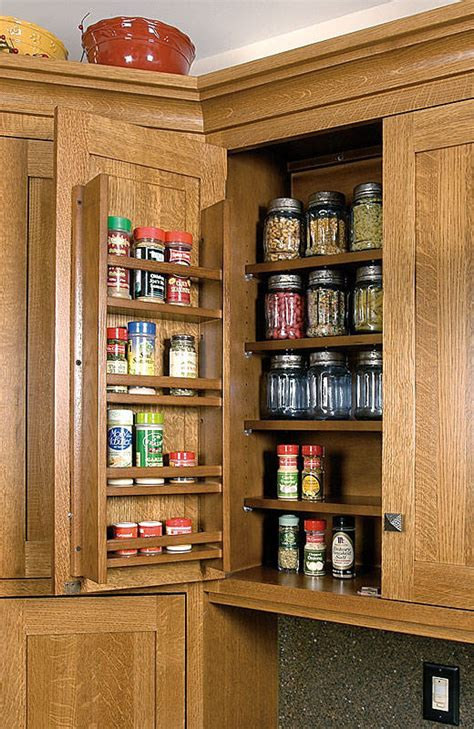 cabinetry accessories wall cabinets spice rack  door
