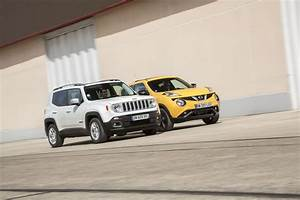Jeep Renegade Essai : essai comparatif jeep renegade vs nissan juke les fortes t tes photo 1 l 39 argus ~ Medecine-chirurgie-esthetiques.com Avis de Voitures
