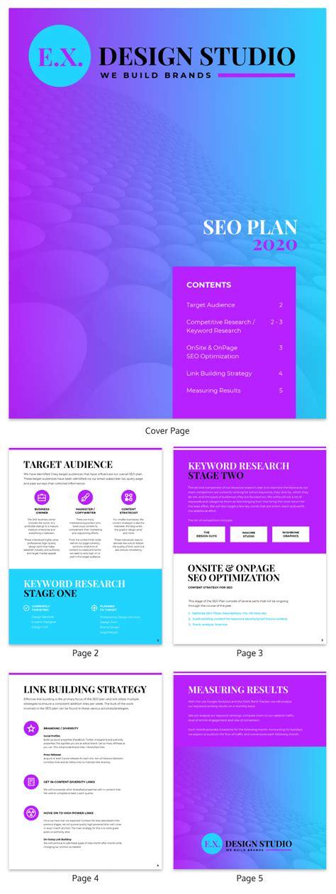 Seo Marketing Plan by Gradient Seo Marketing Plan Template Template Venngage