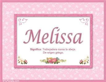 enviar tarjeta postal melissa nombre significado