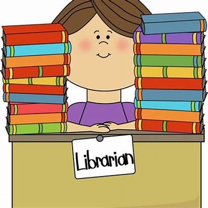 Library Clipart Librarian Clip Transparent Due Cartoon