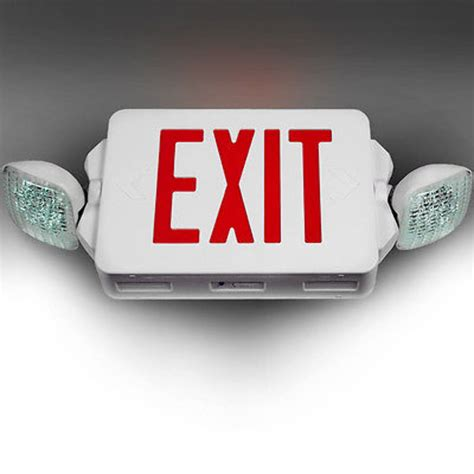 led exit led exit sign emergency lighting compact combo ul