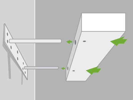 comment accrocher un meuble de cuisine au mur comment poser une tablette avec une fixation invisible