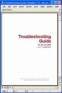 troubleshooting guide use this ms word template to help With online user manual template