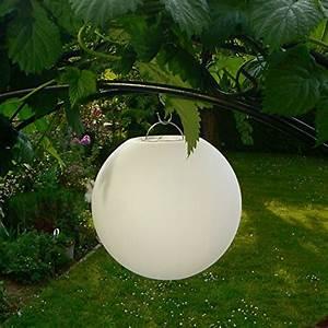 kabellose 25cm led kugel leuchte deko beleuchtung fur With französischer balkon mit garten solarleuchten kugel