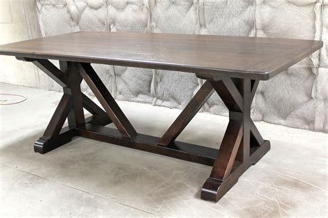 Restoration Hardware Inspired X Base Trestle Table. Rustic Cabinet Drawer Pulls. Wooden Drawer Knobs. Google Remote Desk. Kitchen Cabinet Drawers. Granite Dining Table. 8 Person Dining Table Set. Wicker End Table. Bookshelf With Drawer