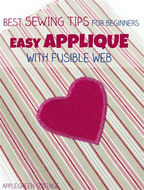 How To Applique by How To Applique With Fusible Web Applegreen Cottage
