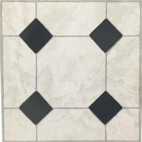 Ceramic Effect Vinyl Floor Tiles  Adhesive
