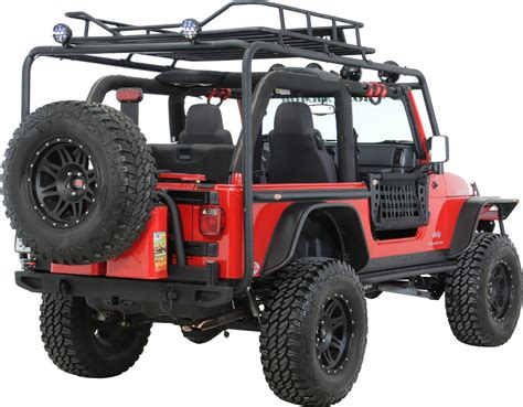 jeep roof rack armor tj 6125 roof rack base kit for 97 06 jeep