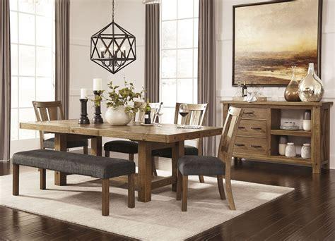 tamilo graybrown rectangular extendable dining room set