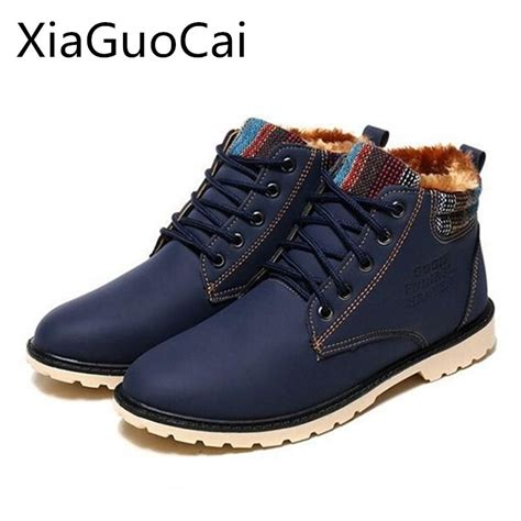 Brand High Quality Men Winter Boots Fashion Fur Warm