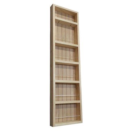 Wide Spice Rack by Wg Wood Products Elgin Premium On The Wall Spice Rack 14