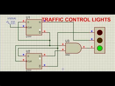 Type Flip Flops Demonstrated Using Traffic Lig