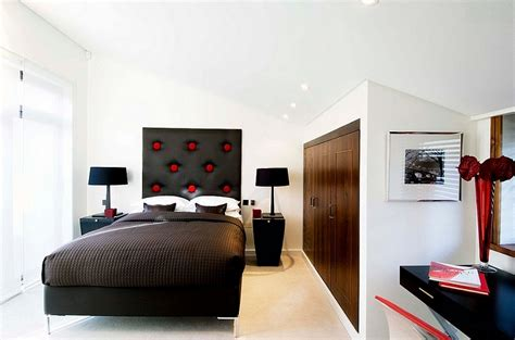 Red, Black And White Interiors Living Rooms, Kitchens