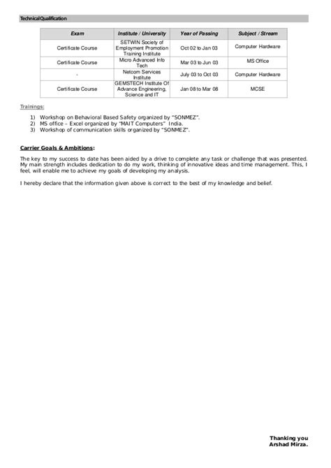 looking for new opportunity in ksa resume arshad mirza qa