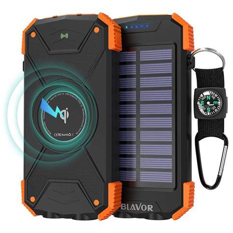 solar akku ladegerät 20 99 blavor wireless powerbank solar ladeger 228 t
