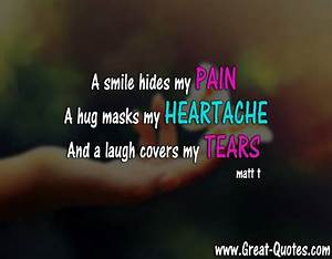 A smile hides m... Pain And Laughter Quotes