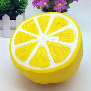 Simulation Big Lemon Squishy Soft Phone Straps Cell Phone