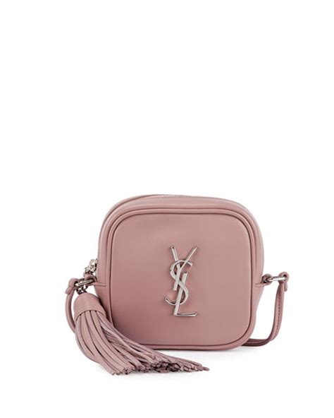 saint laurent monogram blogger crossbody bag dusty pink